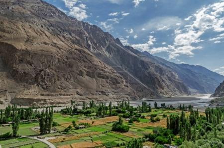 Turtuk village in the Nubra Valley of Ladakh, India
