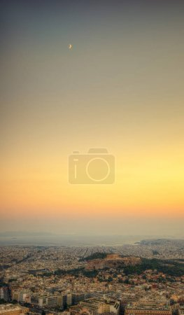 Photo for Acropolis Sunset over Athens, Greece taken in 2015 - Royalty Free Image