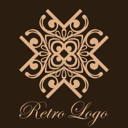 Vintage ornamental logo monogram. Retro luxury log...