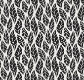 """Постер, картина, фотообои """"Шаблон вектор геометрические бесшовные листьев. Цветочный фон иллюстрации"""""""