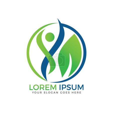 Sport fitness medical or health care center logo d...