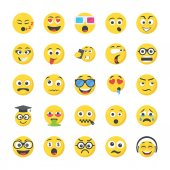 Smileys Flat Vector Icons