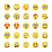 Smiley Flat Icons Pack
