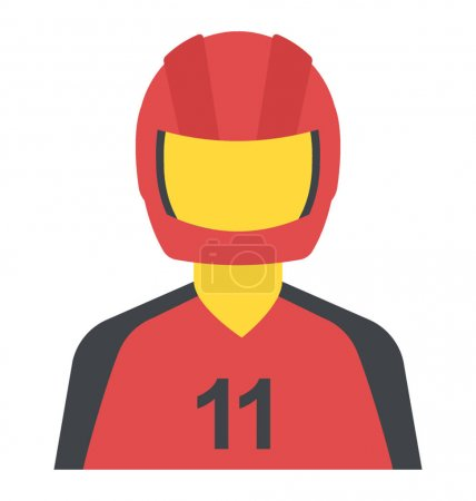 A person with bike helmet is motorcyclist