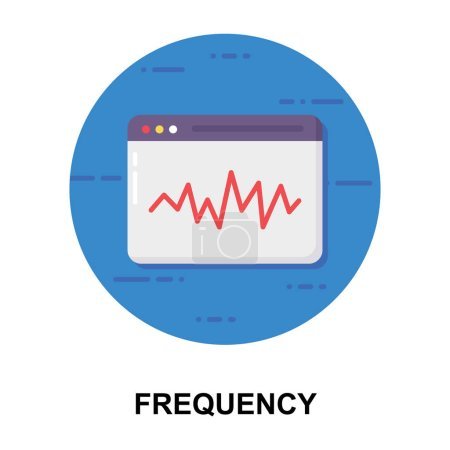 Illustration for An equalizer diagram, frequency icon design - Royalty Free Image