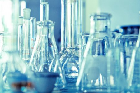 Laboratory glassware background