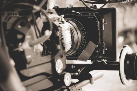 Photo pour Détail de la caméra numérique professionnelle - image libre de droit