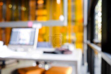Photo pour Arrière-plan de bureau bureau, flou - image libre de droit