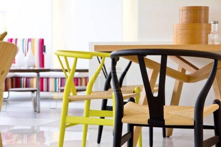 Photo pour Image de salle à manger moderne, un design intérieur moderne maison et décoration. - image libre de droit