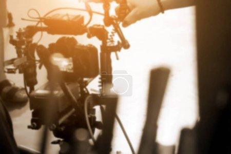 Foto de Tras el fondo de escenas, cámara de cine en la película fija - Imagen libre de derechos