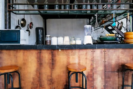 Photo pour Image détaillée de la conception de la cuisine Loft - image libre de droit
