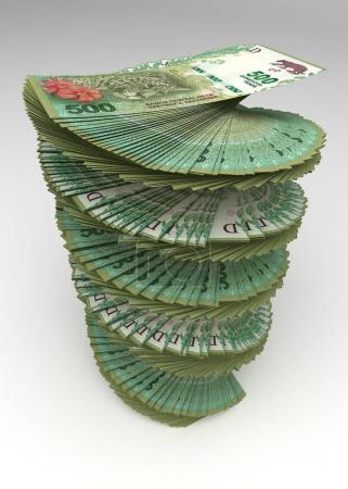 Photo pour Argentine Pesos Tower Image générée par ordinateur - image libre de droit