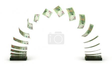 Photo pour Argentine Pesos Transfert (isolé avec chemin de coupe ) - image libre de droit
