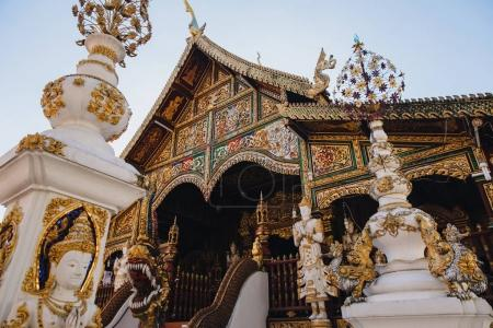 Photo for Beautiful ancient architecture with sculptures at Chiang Mai, Thailand - Royalty Free Image