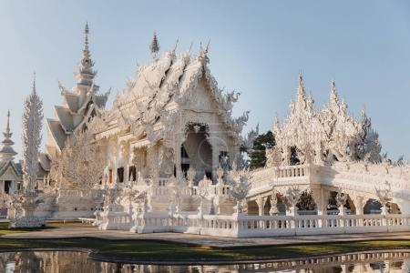Photo for Architecture of Wat Rong Khun White Temple, Chiang Rai, Thailand - Royalty Free Image