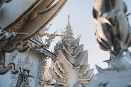 Photo pour Temple de Wat Rong Khun blanc, Chiang Rai, Thaïlande - image libre de droit