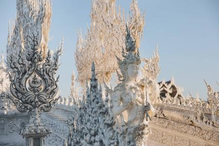 Photo for Beautiful decorative statues and sculptures on Wat Rong Khun White Temple, Chiang Rai, Thailand - Royalty Free Image
