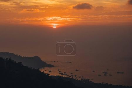 Photo for Beautiful scenic landscape with seascape at sunset, Ko Tao island, Thailand - Royalty Free Image