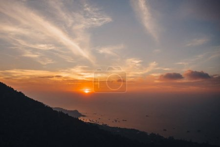Photo for Majestic landscape with seascape at sunset, Ko Tao island, Thailand - Royalty Free Image