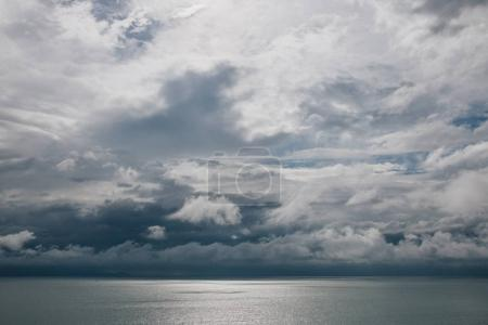 Photo for Cloudy sky above calm ocean, Krabi, Thailand - Royalty Free Image