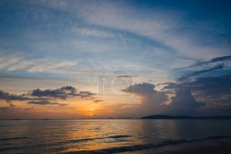 Photo for Beautiful scenic seascape at sunset, Krabi, Thailand - Royalty Free Image