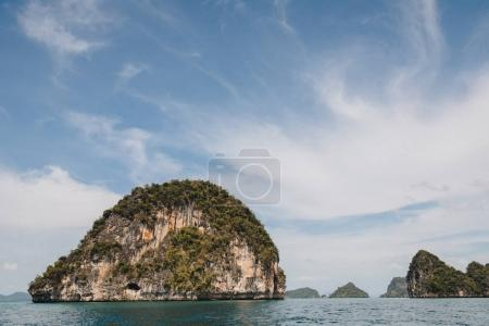 Photo for Majestic landscape with cliffs in calm ocean at Krabi, Thailand - Royalty Free Image