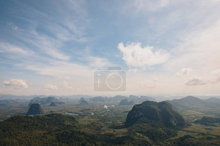 Photo for Aerial view of beautiful scenic landscape in Krabi, Thailand - Royalty Free Image