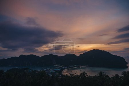 Photo for Scenic sunset at beautiful Phi-Phi island, Thailand - Royalty Free Image