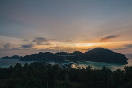 Photo for Majestic sunset at beautiful Phi-Phi island, Thailand - Royalty Free Image