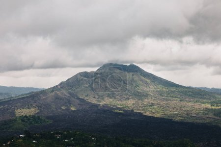 Photo for Beautiful scenic view of majestic Batur volcano, Bali - Royalty Free Image
