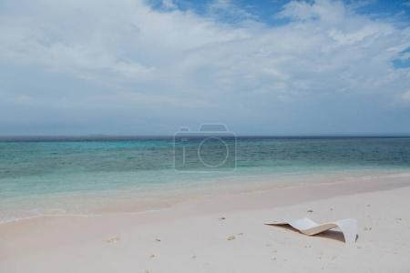 Photo for Beautiful empty sandy beach and seascape at Thoddoo island, Maldives - Royalty Free Image