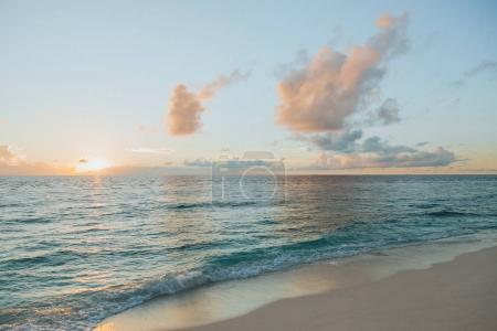 Photo for Beautiful seascape at sunset at Thoddoo island, Maldives - Royalty Free Image