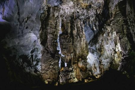amazing inside view of cave in Phong Nha Ke Bang National Park, Vietnam