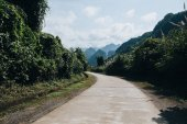 rural road in beautiful mountains at Phong Nha Ke Bang National Park, Vietnam