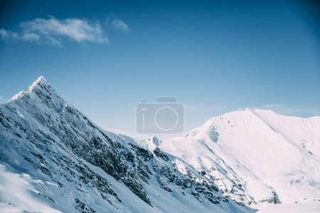 Photo for Majestic landscape with snow-capped mountains, mayrhofen, austria - Royalty Free Image