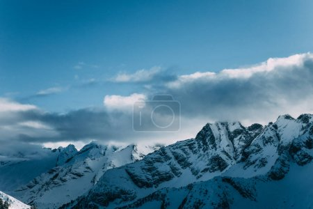 Photo for Amazing snow-capped mountain peaks in mayrhofen, austria - Royalty Free Image