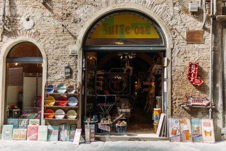 Photo for SIENNA, ITALY - 16 MAY 2016: Siena local show showcase and selling goods - Royalty Free Image