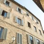 Brick building facade in historical quarter of Sie...