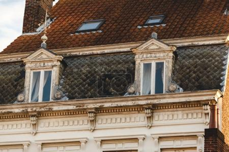 Photo for Decorated windows at beautiful historical building in brugge, belgium - Royalty Free Image
