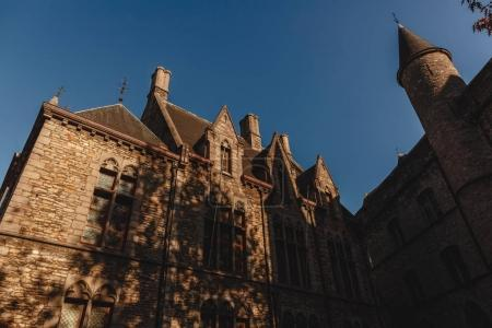 Photo for Low angle view of medieval castle in Ghent, Belgium - Royalty Free Image