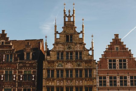 Photo for Beautiful architecture of traditional buildings in Ghent, Belgium - Royalty Free Image