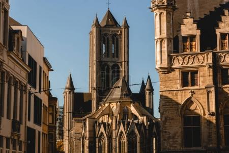 Photo for Beautiful ancient architecture in historical quarter of Ghent, Belgium - Royalty Free Image