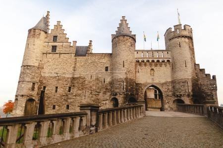 Photo for Famous medieval Het Steen fortress in Antwerp, Belgium - Royalty Free Image