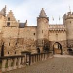 Famous medieval Het Steen fortress in Antwerp, Bel...