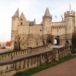 Beautiful architecture of medieval Het Steen fortr...