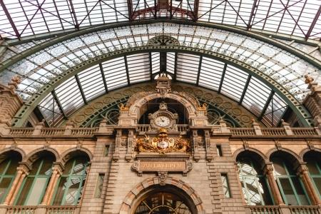 Photo for Famous antwerpen-centraal station in Antwerp, Belgium - Royalty Free Image