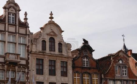 Photo for Beautiful traditional buildings in historical quarter of mechelen, belgium - Royalty Free Image