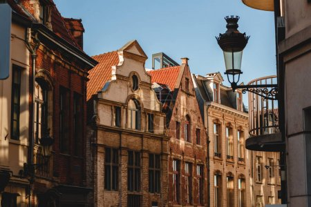 Photo for Beautiful architecture of old buildings in brussels, belgium - Royalty Free Image