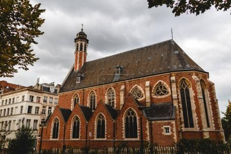 Photo for Beautiful old traditional church in brussels, belgium - Royalty Free Image