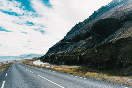 Photo for Empty asphalt road and beautiful landscape in western iceland - Royalty Free Image